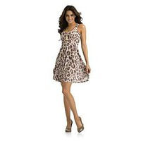Kardashian Kollection- -Women&#x27;s Knit Dress - Leopard Print-Clothing-Women&#x27;s-Dresses