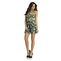 Kardashian Kollection- -Women's Knit Dress - Chain Print-Clothing-Women's-Dresses