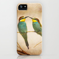 Love time. Bee-eaters iPhone & iPod Case by Guido Montañés