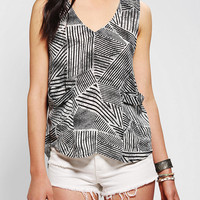 Silence & Noise Drapey High/Low Tank Top