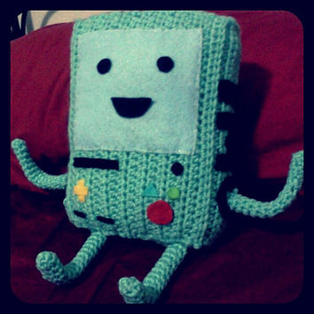 Adventure Time BMO beemo crochet amigurumi by NerdigurumiNation
