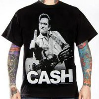 Johnny Cash, T-Shirt, Giving The Finger