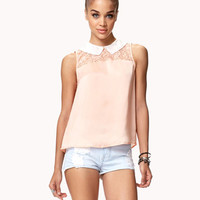 Floral Lace Satin Top