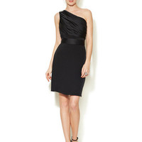 Silk Crepe One Shoulder Dress by Notte By Marchesa at Gilt