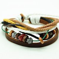 Jewelry Bangle bracelet women Leather Bracelet Girl Ropes Bracelet Men Leather Bracelet RZ0270