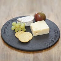 personalised slate round board by made from slate | notonthehighstreet.com