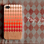 Apple iphone case for iphone iPhone 5 iphone 4 iphone 4s iphone 3Gs : Diamond pattern iPhone Case on wood background (not real wood)