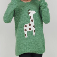 LOVELY DOTS GIRAFFE PULLOVER SWEATER 2