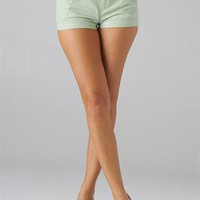 Green Seersucker Shorts