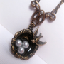 Nest Of Birds Pearl Necklace