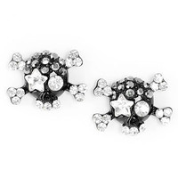 Skull Sparkles Stud Earrings