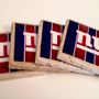 New York Giants Tile Drink Coasters - Set of 4