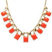 Bellevue Necklace in Coral - ShopSosie.com