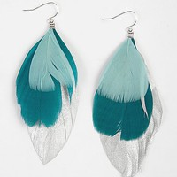 Daytrip Foil Feather Earring - Women's Accessories | Buckle