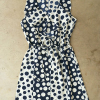 On The Dot Dress [3874] - $36.00 : Vintage Inspired Clothing & Affordable Summer Frocks, deloom | Modern. Vintage. Crafted.