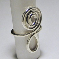 Big Bold and Chunky Sterling RIng Question Mark | LaraJordanJewelry - Jewelry on ArtFire