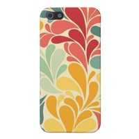 iPhone 5 Case Matte -- Colorful Floral Drops from Zazzle.com