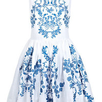 China Blue Embroidered Dress - View All  - New In