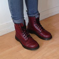 Cherry Dr Martens 1460 Boots from hlynur