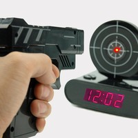 Gun OClock Shooting Alarm Clock