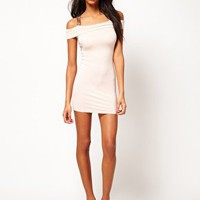 ASOS Bodycon Dress with Sequin Cross Back at asos.com