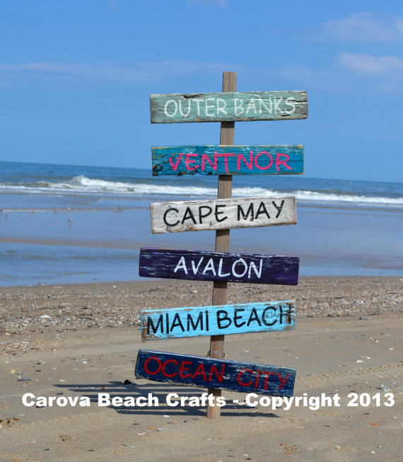 Outdoor Yard Customized Personalized Beach Coastal Nautical