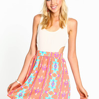 Cut-Out Boho Dress