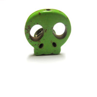 Sugar Skull Tie Tac Zombie Lime Green by sweetie2sweetie on Etsy