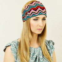 Headwrap Headscarf Head Band Hair Accessory Free People Hairband Wide Headband Headband Woman Hippie Headband Multi Color Aztec
