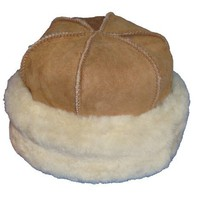 VillageShop Sheepskin Round Hat:Amazon:Clothing