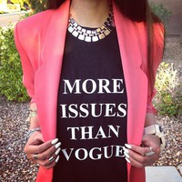 MORE ISSUES THAN VOGUE TANK @ youregonnalovethis