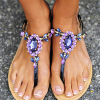 Dancing In The Moonlight Sandals: Purple | Hope&#x27;s