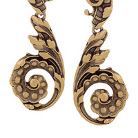 Oscar de la Renta Gold-plated clip earrings – 45% at THE OUTNET.COM