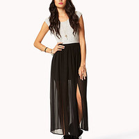 Cutout M-Slit Maxi Dress | FOREVER 21 - 2046989561