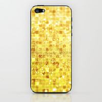 Disco Gold - Glitter iPhone &amp; iPod Skin by Belle13