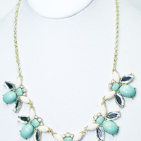 Bee's Knees Necklace - Mint + White -  $26.00 | Daily Chic Accessories | International Shipping