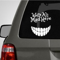 Alice in Wonderland Cheshire Cat Car Decal