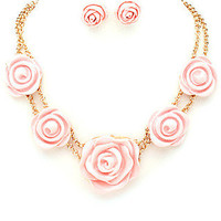Rosebud Necklace - Light Pink -  $24.00 | Daily Chic Accessories | International Shipping