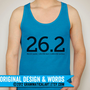 Neon Blue Running Tank Marathon T-Shirt Neon Yellow Gifts for Runners Apparel Marathon Gift Half Marathon Neon Green Pink Blue Runner Gift