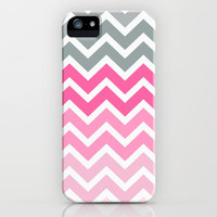 Pink Fade Chevron iPhone case iPhone &amp; iPod Case by RexLambo