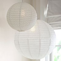 Eyelet Paper Lantern