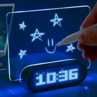 ENHANCE 4 Port USB 2.0 Desk Hub Glowing Memo Alarm Clock &amp; Temperature for Mice , Keyboards , Tablets , Smartphones , MP3 Players , Digital Cameras , External Hard Drives &amp; More!