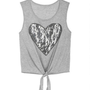 Sequin Heart Tie Front