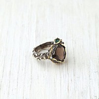 Free People Smokey Mountain Stone Ring
