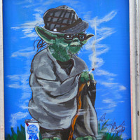 Broda hipster Yoda by HerDyingBreathStudio on Etsy
