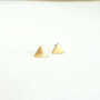 Triangle earrings small triangle post earings triangle studs