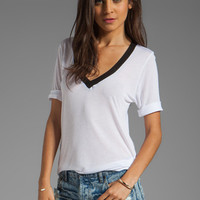 Feel the Piece Color Block Best Friend Tee in White/ Black from REVOLVEclothing.com