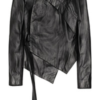 Aminaka Wilmont | Asymmetric leather biker jacket | NET-A-PORTER.COM