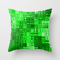 Circuitry Throw Pillow by Alice Gosling