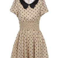 Vintage Doll Collar Polka Dot Dress